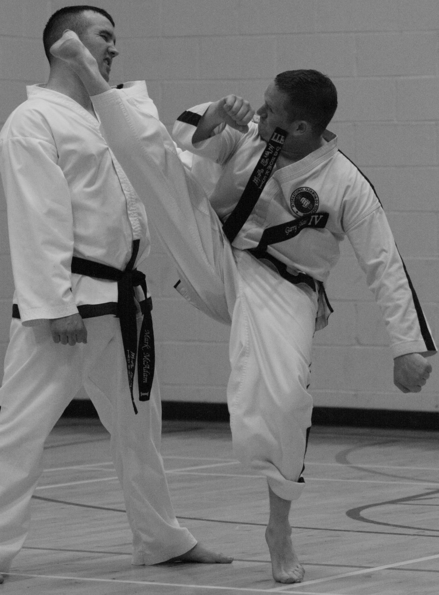 Garry Shaw executing high kick