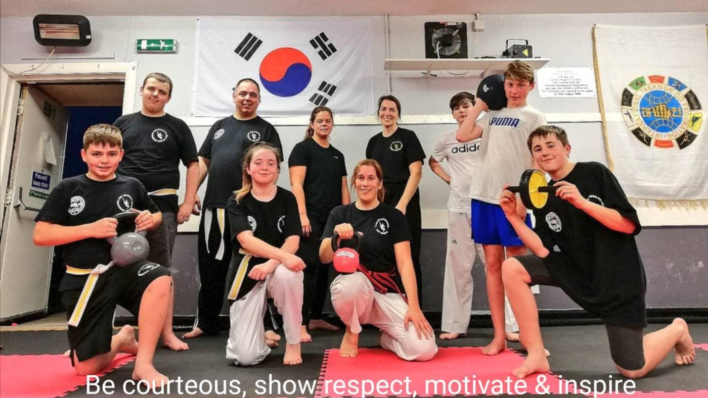 Larbert Kickboxing Class posing for photo
