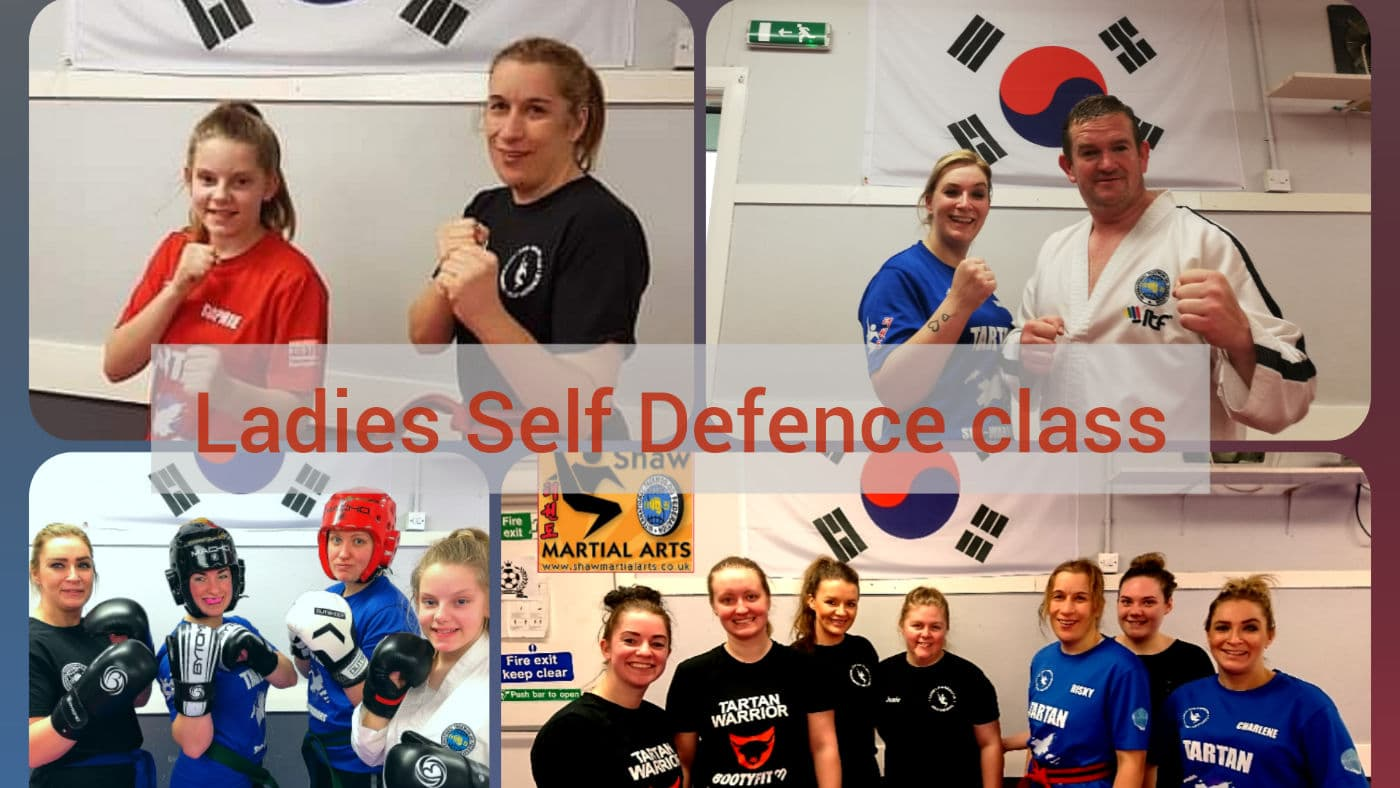 Compilation of different women from ladies self-defence class