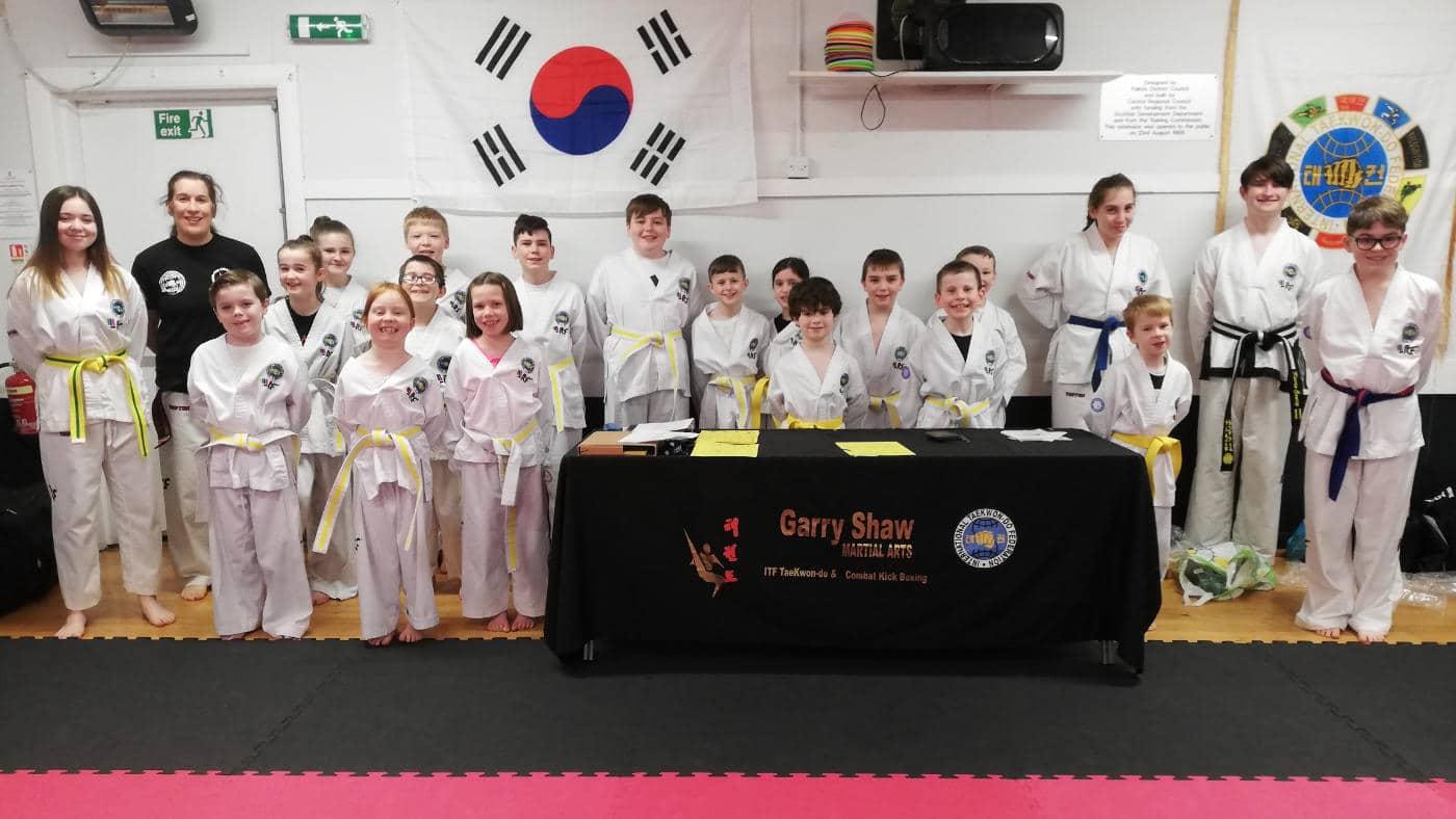 Taekwon-Do Students in Larbert Dojo